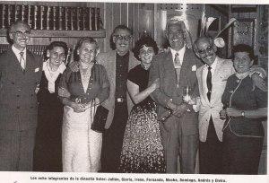 Los ocho integrantes de la dinastía de los Hnos. Soler, Julián, Gloria, Irene, Fernando, Meche, Domingo, Andrés y Elvira
