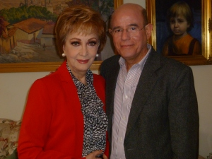 Norma Lazareno y Andrés Bermea