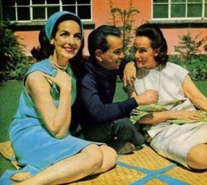 María Félix, Mario Moreno Cantinflas y Dolores del Río