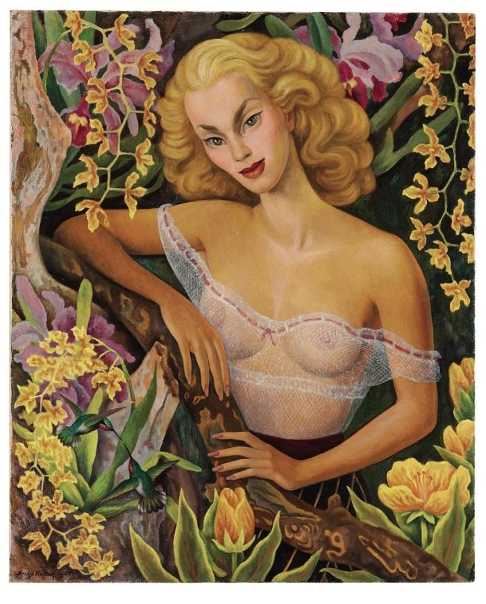 Retrato de Linda Christian pintado por Diego Rivera