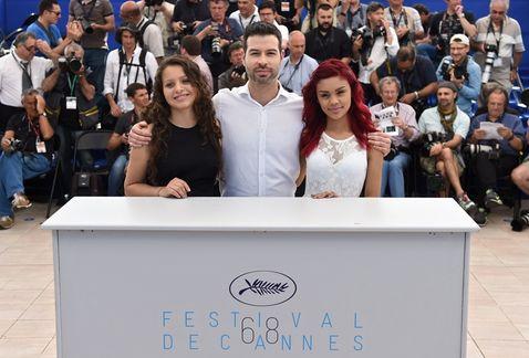Cannes - Las elegidas - Nancy Talamantes y Leidi Gutiérrez con David Pablos